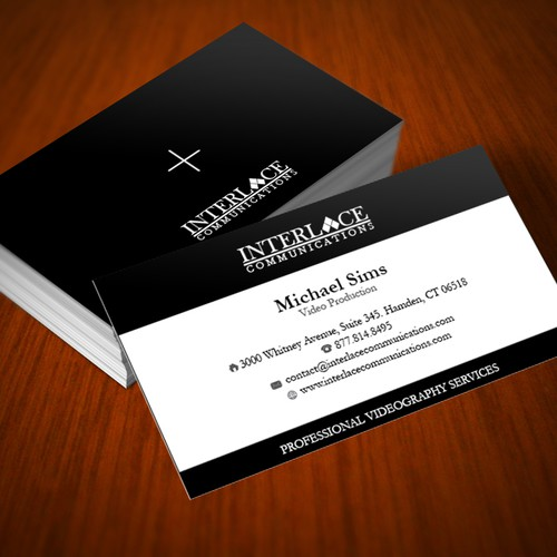 New business card design for video production company stationery runner up design by pinklover reheart Images
