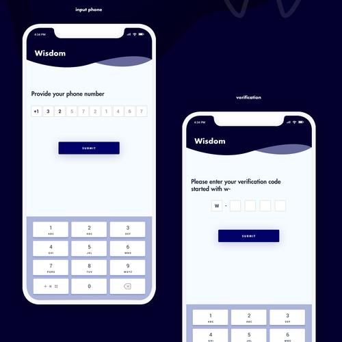 Wisdom, a discount dental membership plan (app) Design by A N S Y S O F T