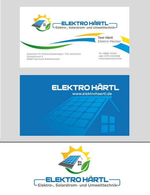 Umwelttechnik Zeitgemäss Dargestellt Logo Und Visitenkarte