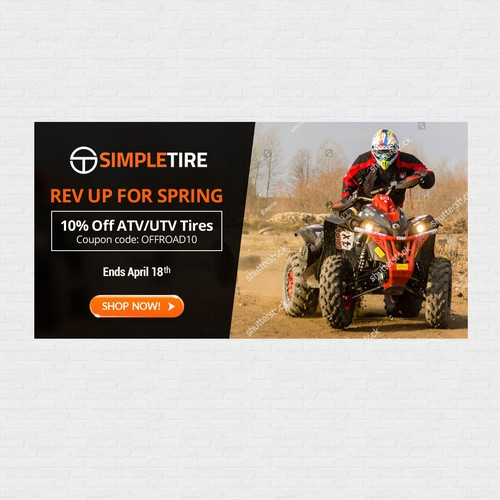 Simpletire Com 10 Off Atv Utv Tires Promotion Banner Ad Contest