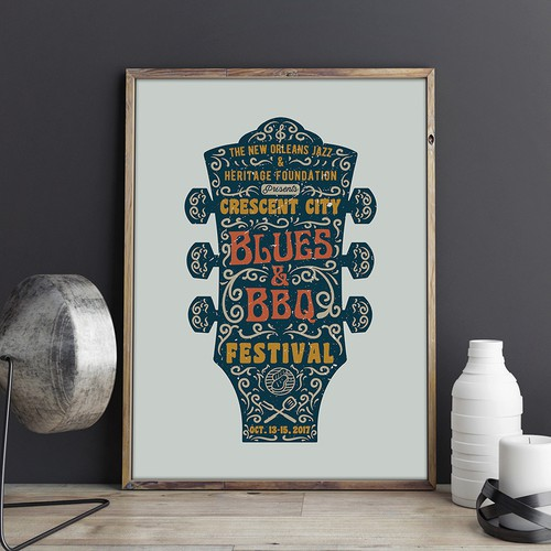 2017 Crescent City Blues & BBQ Festival Design by deadkid0018