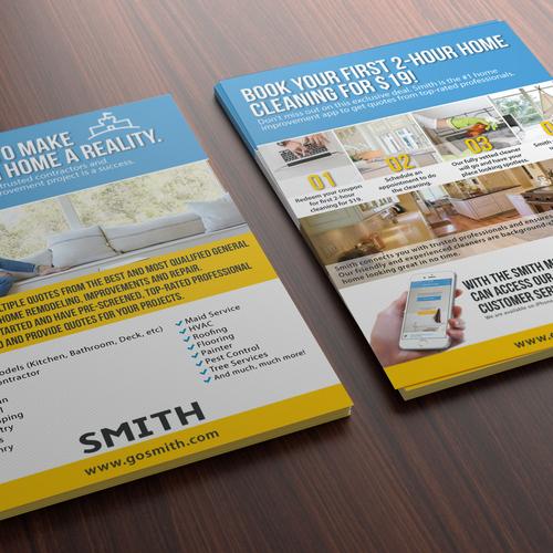 Create An Inspiring Home Improvement Flyer Postcard Flyer Or Print Contest 99designs