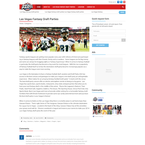 wordpress attachment page template - custom wordpress template needed for fantasy sports site