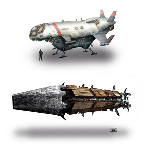 Spacecraft Illustration for Novel Design by James E. Grant