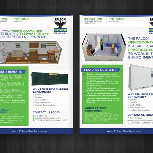 """Create two """"one page brochure templates"""" for repurposed shipping ..."""