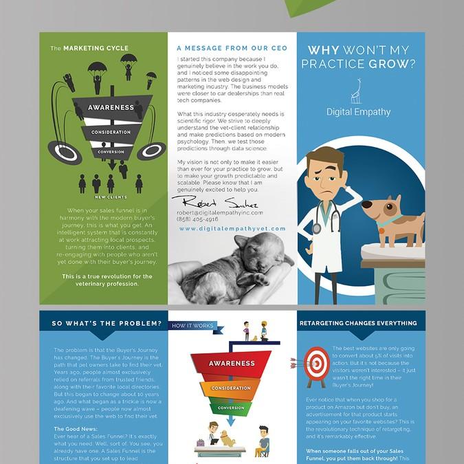 create a simple but creative brochure for digital empathy