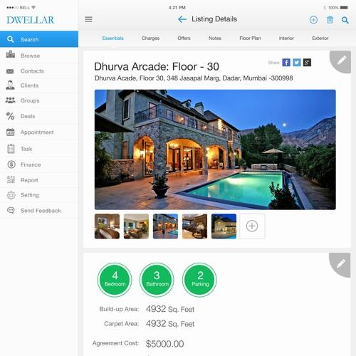 Design An Ipad App Ui That Real Estate Estate Agents Will Love App Design Contest 99designs