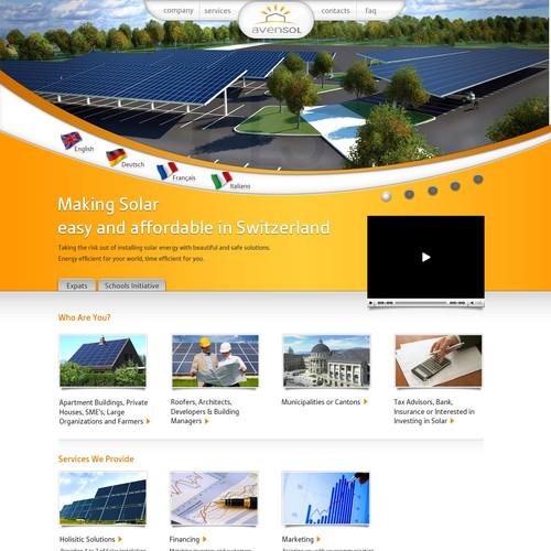 Runner-up design by littlerobotwebdesign