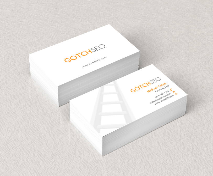 Create a sleek and professional business card design for an SEO ...