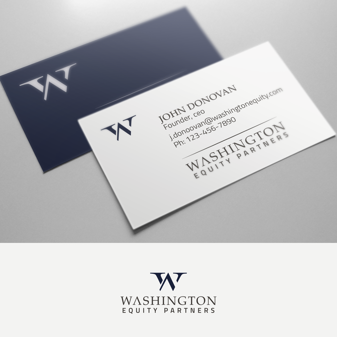 Design a sophisticated logo and business card for new private equity winning design by kelly norman colourmoves