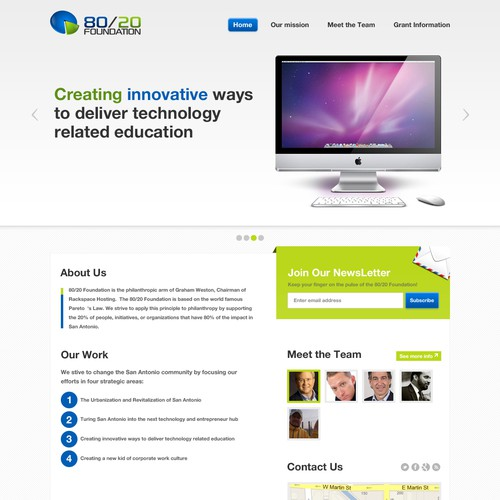 Runner-up design by webHeroes
