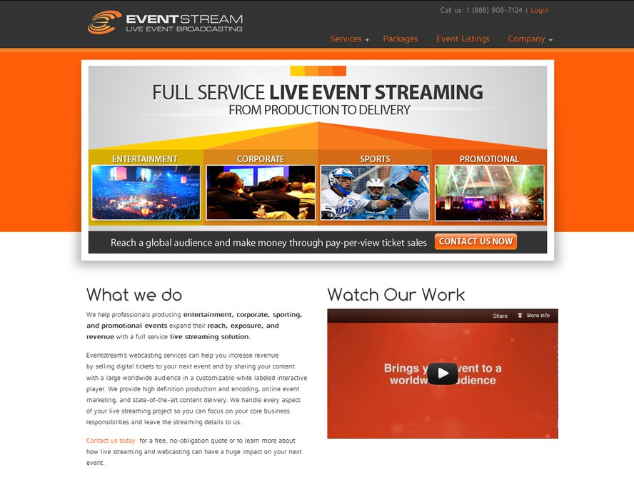 business or advertising for Eventstream | Other business or