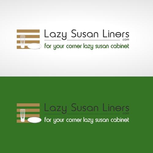 Lazy Susan Shelf Liner Logo Design