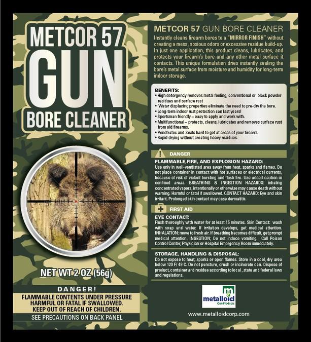 Create a unique gun product spray can label for Metalloid ...  Metalloid