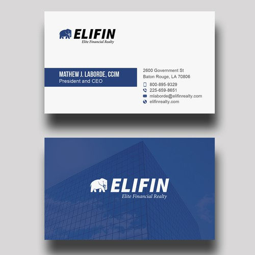 Design A Professional Business Card For A Specialty Real Estate