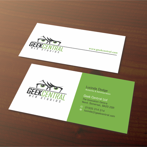 Weve got the logo now design some uber cool business cards runner up design by berlina reheart Images