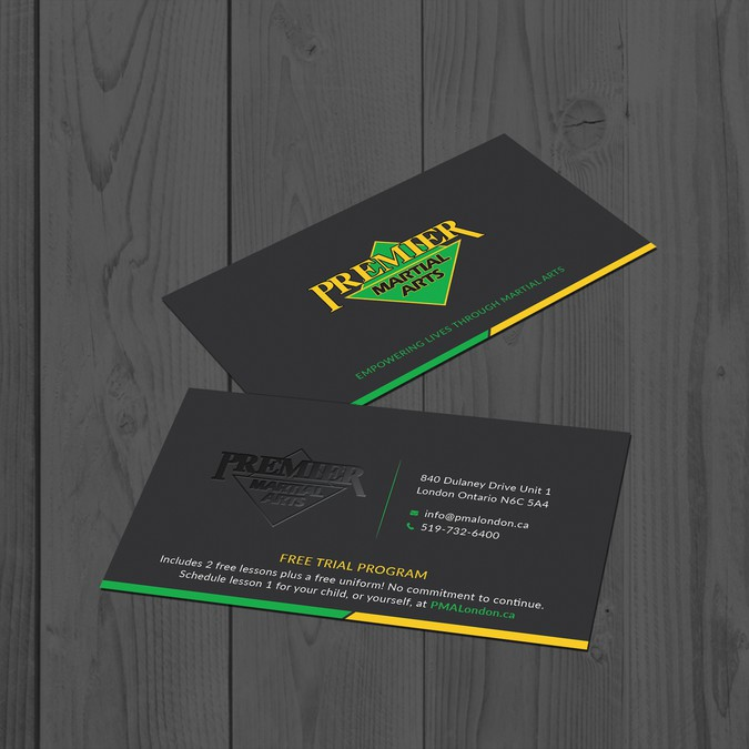 Premier martial arts business card design business card contest winning design by tanlearn reheart Images