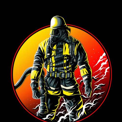 50a63342 FIREFIGHTER T-Shirt ++++Design a new breathtaking FIREFIGHTER ...