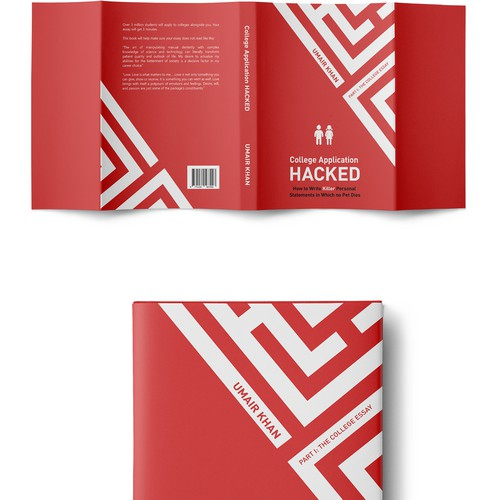 Book Cover Design Application ~ Iconic cover design for college application hacked book