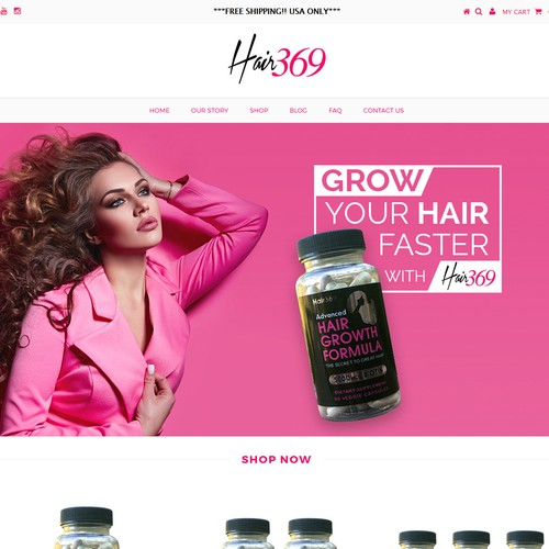 Hot New Hair Growth Supplement Company Needs A Header Banner For Shopify Site Banner Ad Contest 99designs