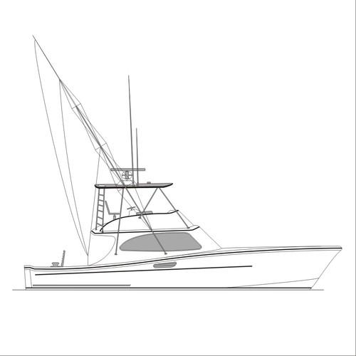 boat line art