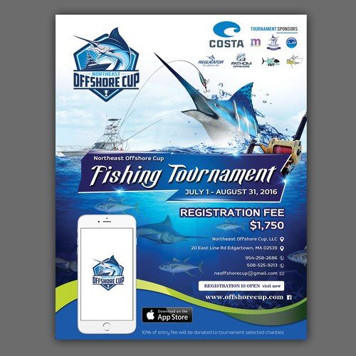 Fishing tournament adflyer postcard flyer or print contest runner up design by tumpa mistry saigontimesfo