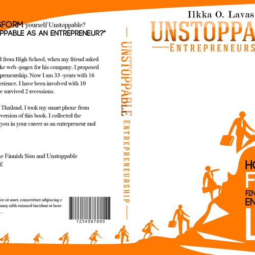 Help Entrepreneurship book publisher Sundea with a new Unstoppable Entrepreneur book Design by VISUAL EYEZ MMXIV