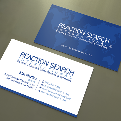 Create a new business card design for an executive search company entries from this contest colourmoves