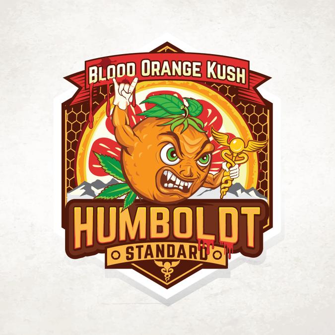 Humboldt Standards Blood Orange Kush | Logo design contest