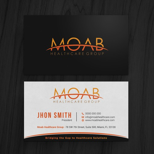 Moab healthcare business card design business card contest runner up design by kaylee ck colourmoves Images