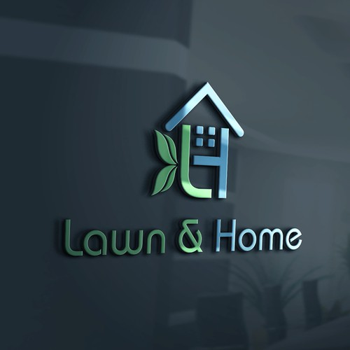 landscaping garden and home maintenance logo design