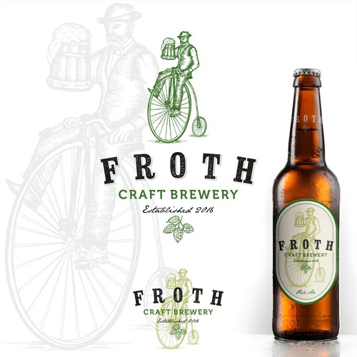 Create a distinctive hipster logo for Froth Craft Brewery Design by Sign²in