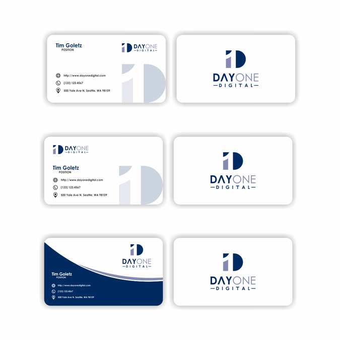 Design Logobusiness Card For New Startup Day One Digital Logo