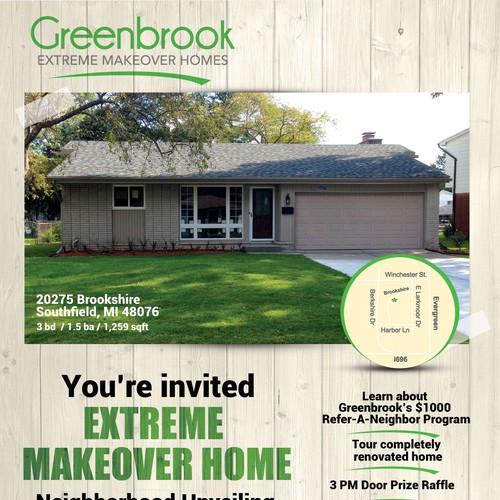 Extreme makeover home brochure design follow up work for Extreme home makeover designers