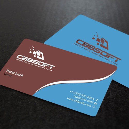 Create a business card design for software development company runner up design by dipenshah colourmoves