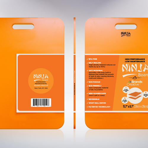 Ninja cutting board product leaflet Design by DataFox