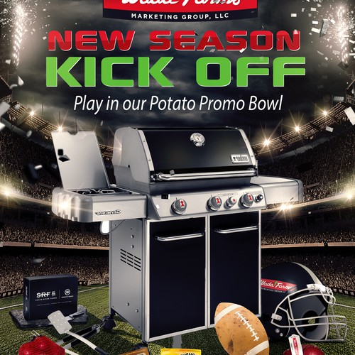 Design Promo Flyer that incorporates a football kickoff theme Diseño de PeteSakeDesigns