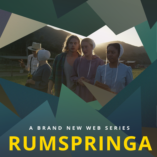 create movie poster for a web series called rumspringa