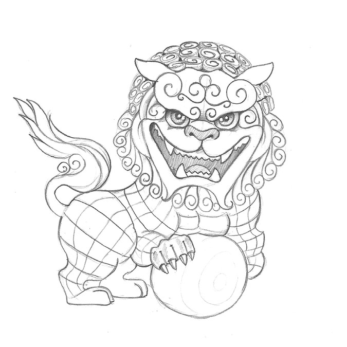 foo dog characters for chinese new year