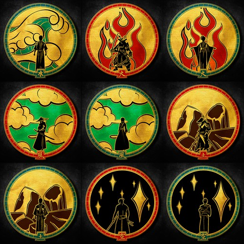 Design 5 Classy Elemental Symbols For Coins Fire Water Earth Air Void Other Clothing Or Merchandise Contest 99designs