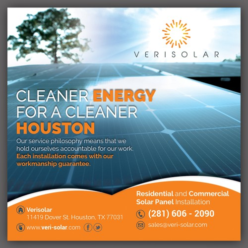 Let S Show People The Power Of Verisolar Postcard Flyer