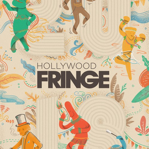 Guide Cover for the 2018 Hollywood Fringe Festival Design by -Z-