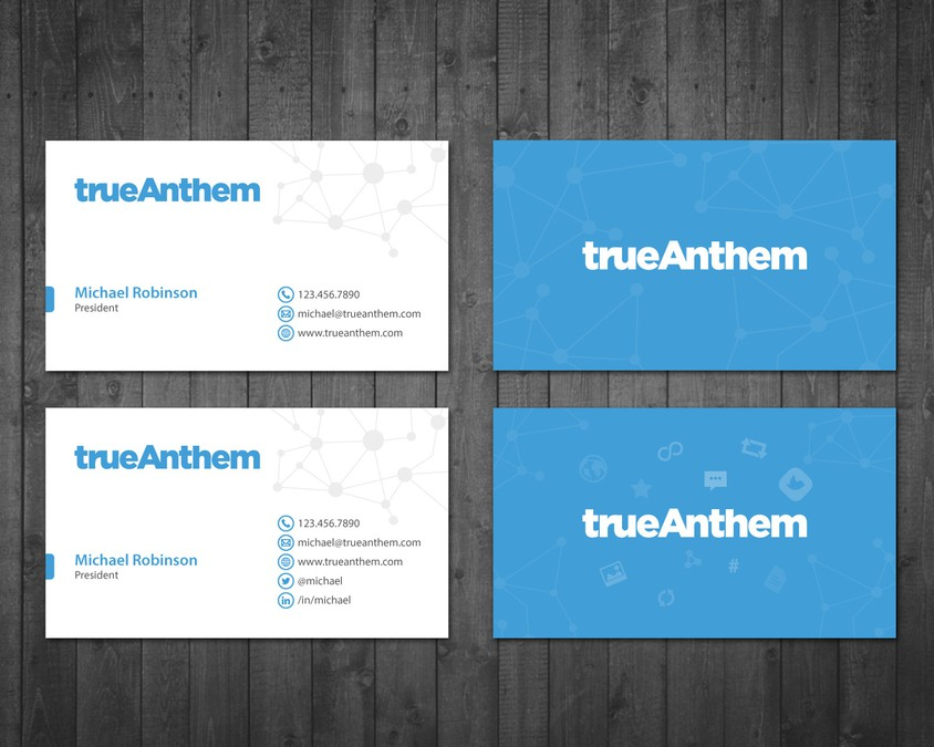 Business cards for innovative tech startup | Business card contest