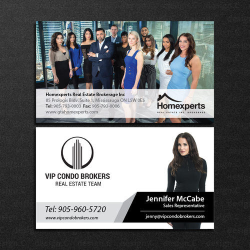 Real estate team business cards business card contest runner up design by designc reheart Image collections