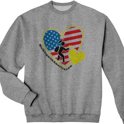 Walking with america needs a bright sponsor shirt t for Sponsor t shirt design