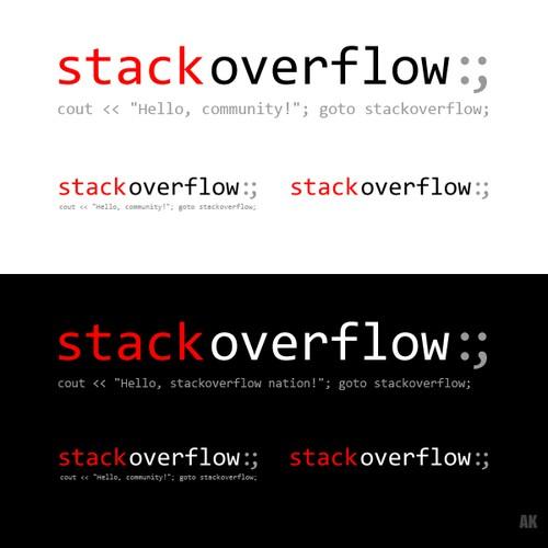 logo for stackoverflow.com Design by AdamKinney