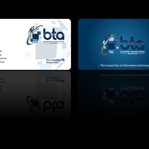 Create a dynamic new business card for an established it company entries from this contest malvernweather Images