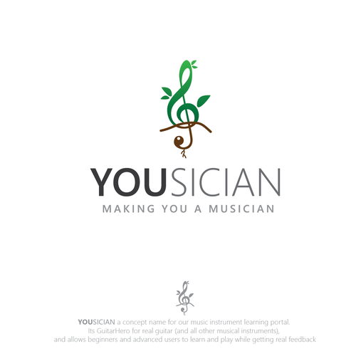 Logo for Yousician - the future of music learning! | Logo design contest