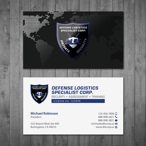Business Cards For A Security Guard Company Business Card Contest
