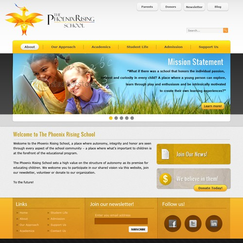 Runner-up design by webdsolutions